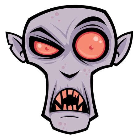 Cartoon illustratie van de griezelige vampier, graaf Dracula. Groot voor Halloween.