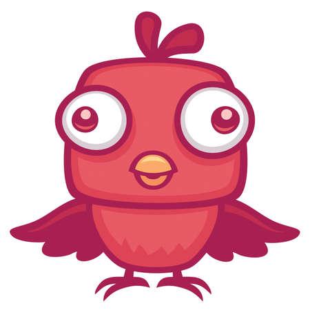 Vector cartoon illustration of a cute baby bird.