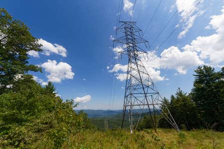 smoky mountains: power lines running through the smoky mountains