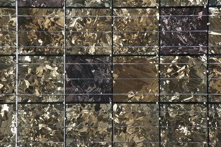 Material of construction of metal fibers, solar house energy