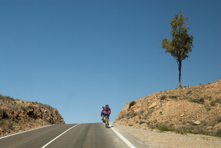 Cycling route, Cabo de Gata, Almeria, Spain 版權商用圖片