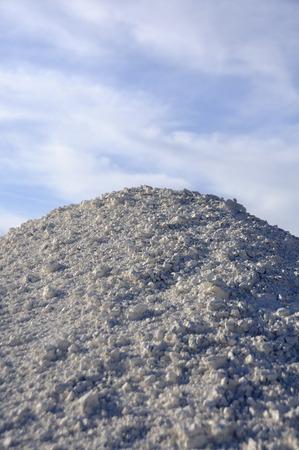 Soil erosion, white sand