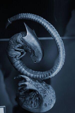 Predator character from Alien versus Predator. In the Museum of Film Legends in Prague 30.3.2018.