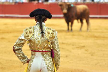 woman bullfighter in spain Editorial