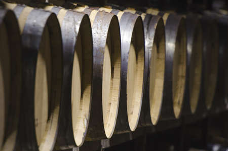 foreground detail for wine barrels photo