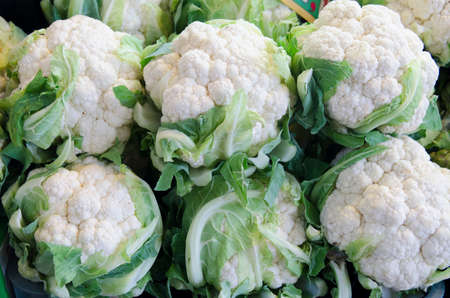 six cauliflowers ecology in the store to be sold