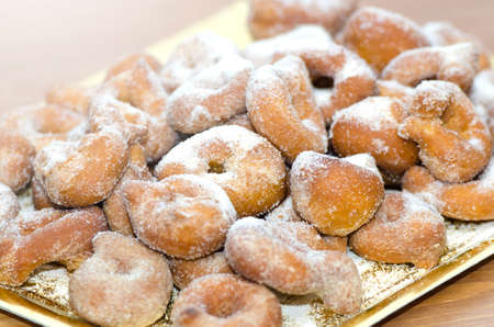 Sugary Doughnuts, traditional sweets of Spain photo