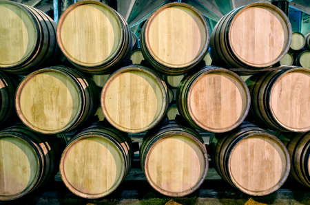sherry: Old barrels for Whisky or wine in cellar