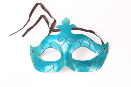 blowers: Carnival blue mask in white background