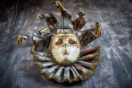blowers: Classical venetian carnival mask on wood