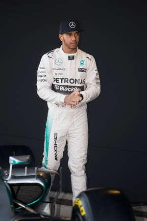 JEREZ DE LA FRONTERA, SPAIN - FEBRUARY 01: Lewis Hamilton, pilot of the team Mercedes in test Formula 1 in Circuito de Jerez on feb 01, 2015 in Jerez de la frontera