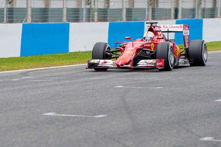 vettel: JEREZ DE LA FRONTERA, SPAIN - FEBRUARY 02: Sebastian Vettel, pilot of the team Ferrari in test Formula 1 in Circuito de Jerez on feb 01, 2015 in Jerez de la frontera. Editorial