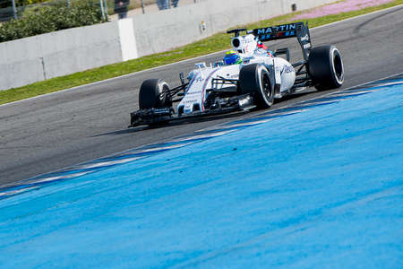 massa: Jerez de la Frontera, Andalusia, Spain, 04 February, 2015: Felipe Massa, pilot of the team Williams in test Formula 1 in Circuito de Jerez.