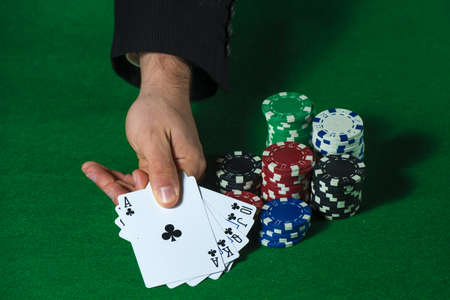 flush: Royal Flush in poker and betting chips