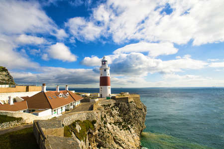 europa: lighthouse of Europa Point in Gribraltar Stock Photo