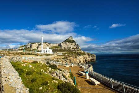 europa: Ibrahim al Ibrahim Mosque at Europa Point, Gibraltar Rock Stock Photo