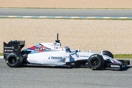 williams: JEREZ DE LA FRONTERA, SPAIN - FEBRUARY 01:  Valtteri Bottas, pilot of the team Williams in test Formula 1 in Circuito de Jerez on feb 01, 2015 in Jerez de la frontera Editorial