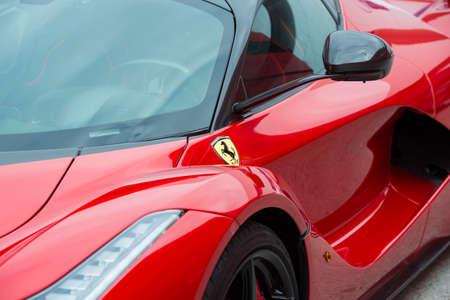 JEREZ DE LA FRONTERA, SPAIN - FEBRUARY 02: Symbol of Ferrari Symbol of Ferrari, a car exhibition in Circuito de Jerez on feb 02, 2015 in Jerez de la frontera.