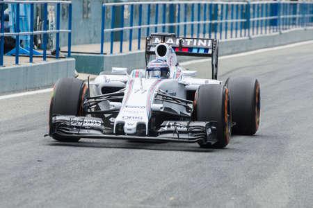 williams: JEREZ DE LA FRONTERA, SPAIN - FEBRUARY 02: Valtteri Bottas, pilot of the team Williams Martini in test Formula 1 in Circuito de Jerez on feb 02, 2015 in Jerez de la frontera.