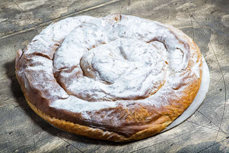 Ensaimada, cake typical of Mallorca, Spain. 版權商用圖片
