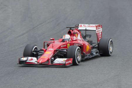 vettel: JEREZ DE LA FRONTERA, SPAIN - FEBRUARY 02: Sebastian Vettel, pilot of the team Ferrari in test Formula 1 in Circuito de Jerez on feb 02, 2015 in Jerez de la frontera.