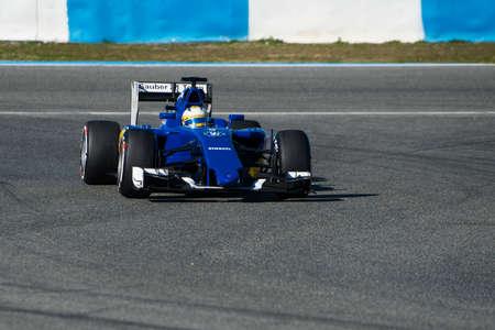 ericsson: JEREZ DE LA FRONTERA, SPAIN - FEBRUARY 01:  Marcus Ericsson, pilot of the team Sauber in test Formula 1 in Circuito de Jerez on feb 01, 2015 in Jerez de la frontera
