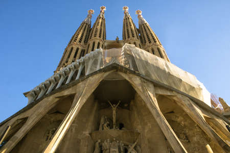The Sagrada Familia, the cathedral designed by architect Gaudi, Which is Being build since 1882 and is not finished.