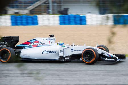 massa: JEREZ DE LA FRONTERA, SPAIN - FEBRUARY 03: Felipe Massa, pilot of the Williams  Sauber, in test Formula 1 in Circuito de Jerez on feb 03, 2015 in Jerez de la frontera.