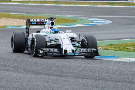 sauber: JEREZ DE LA FRONTERA, SPAIN - FEBRUARY 03: Felipe Massa, pilot of the Williams  Sauber, in test Formula 1 in Circuito de Jerez on feb 03, 2015 in Jerez de la frontera.