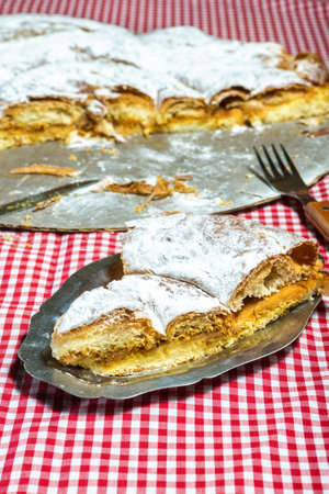 Ensaimada, cake typical of Mallorca, Spain. Stock Photo
