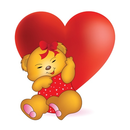 teddy bear: Adorable Ours en peluche Illustration