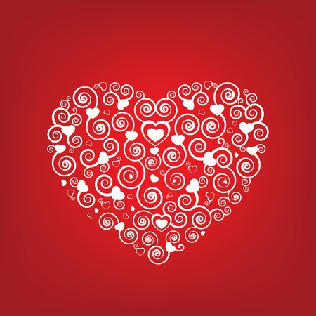 Swirly Heart Shape Vector