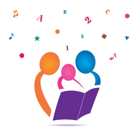 adults learning: Reading Together Icon