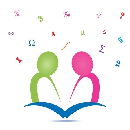 Gemeinsam studieren Icon Standard-Bild - 12023233