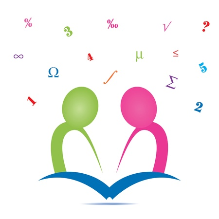 Studying Together Icon Vector