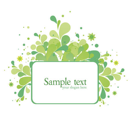 textbox: Abstract Green Textbox Illustration