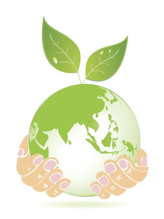 Growing a green world  Vector