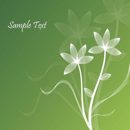 Abstract Flower in Green Background