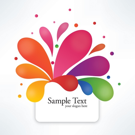 Abstract Colorful Text Box Illustration