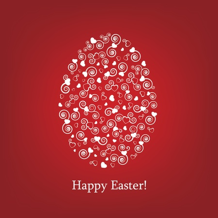 greeting card background: I LOVE EGG