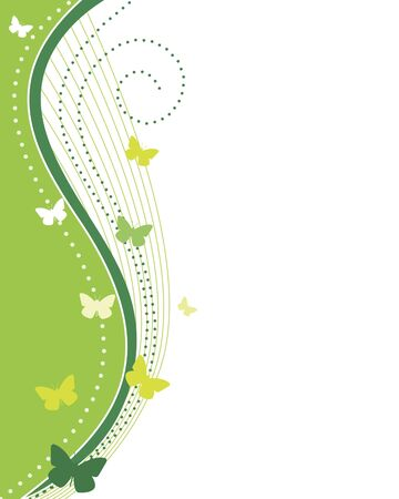 swirly design: Abstract Green with Copy Space Illustration