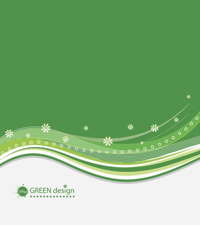 Abstract Green Background  Stock Vector - 13114967