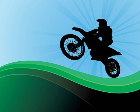 Abstract Motorbike Background Vector