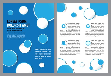 Brochure Layout Design Template  Vector illustration layered for easy manipulation and custom text Stock Vector - 17011176