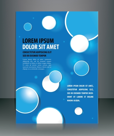 Business Brochure Design illustration layered for easy manipulation and text change