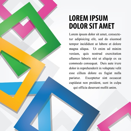 Colorful Abstract Square Background Vector