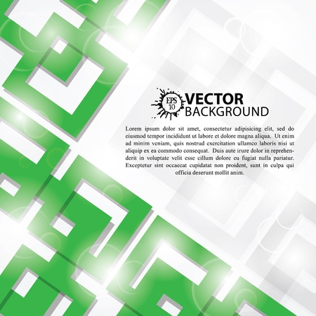 Abstract Green Square Background Vector