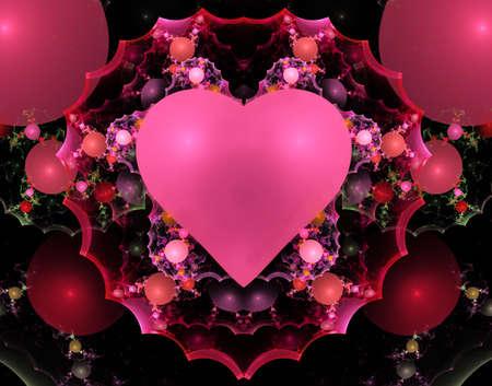 apophysis: Colorful Valentine Heart Fractal