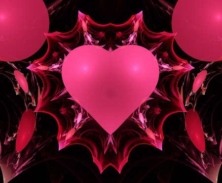 apophysis: Pink Valentine Heart Fractal
