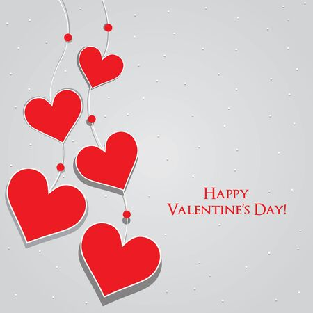 Valentine's Day Greeting Card   Vector background Stock Vector - 17315840